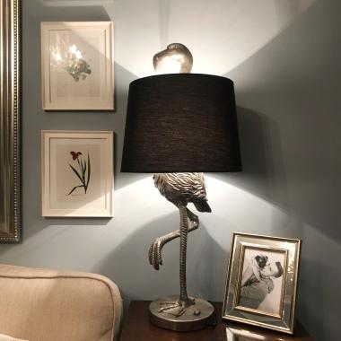 Flamingo Lamp Silver