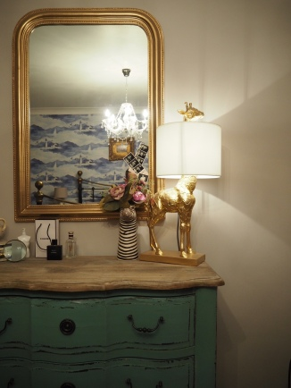Gold Giraffe Lamp