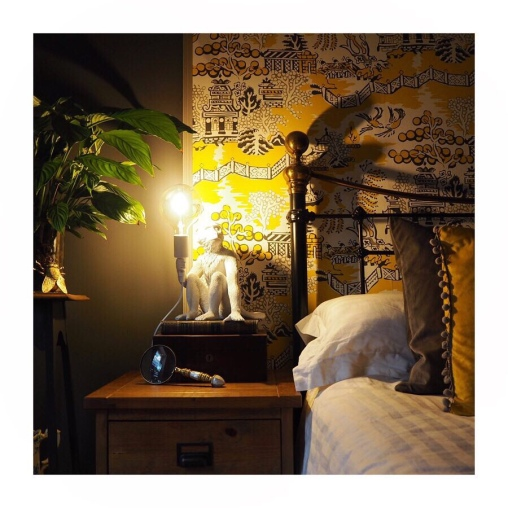 George Monkey Lamp