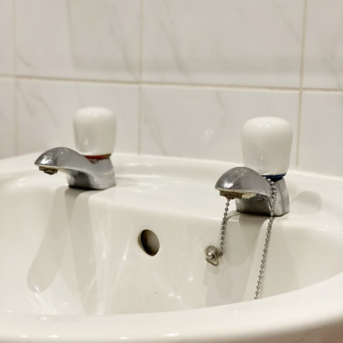 Jack D. March bathroom makeover - taps