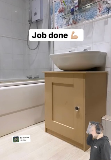 Jack D. March bathroom makeover - under sink cabinet